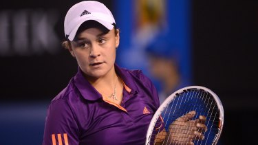 Back to tennis: Ashleigh Barty.