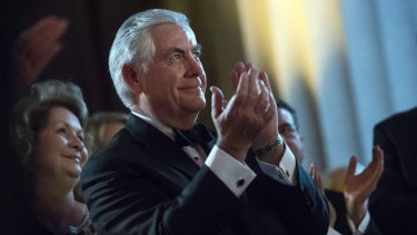 Rex Tillerson, former chief executive officer of Exxon Mobil Corp and now US secretary of state nominee, for president-elect Donald Trump.