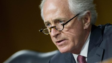 Tennessee Republican senator Bob Corker, chairman of the Senate Foreign Relations Committee.