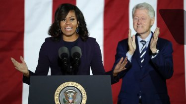 First lady Michelle Obama, alongside former President Bill Clinton, was a highlight of the Hillary Clinton campaign.