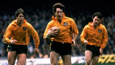 One of the greats: David Campese in ation for the Wallabies.