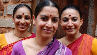Ensemble members Surpupa Sen (middle), Bijayani Satpathy (right) and Pavithra Reddy (left).