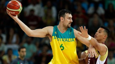 International basketball star Andrew Bogut has happily mixed with athletes from other sports.