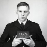 Keith Marshall, 19, graduates as a Victoria Police officer in the early 1960s, after joining as a cadet in training at 16. He would go on to serve 39 years with the force.
