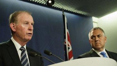 Bring on the banks: Treasurer Joe Hockey, right, and David Murray in Sydney.