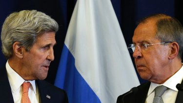 Diplomatic failure: US Secretary of State John Kerry and Russian Foreign Minister Sergei Lavrov.