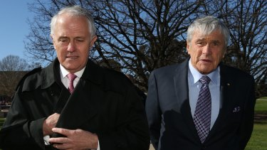 Kerry Stokes with Prime Minister Malcolm Turnbull.