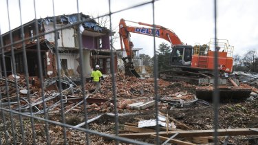The Catholic Archdiocese of Canberra and Goulburn plans to finish demolition work on the Manuka buildings this month.