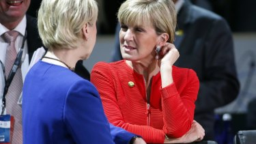 Julie Bishop also attended the nuclear summit.