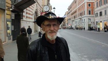 Sex abuse victim Gordon Hill in Rome.