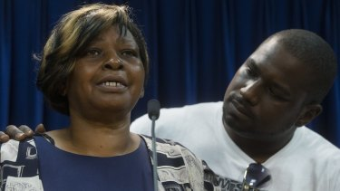 Audrey DuBose, mother of Samuel DuBose, a black man killed by a white policeman in Cincinnati.