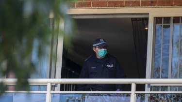 Police and AFP have focused on a unit in Lakemba.