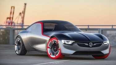 The Holden-built Opel GT concept car was unveiled at the Geneva motor show in March