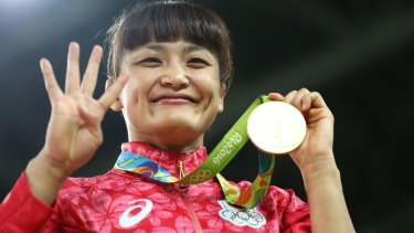 Gold medalist Kaori Icho of Japan.