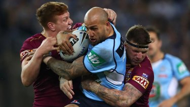 Testing times: NSW and Roosters winger Blake Ferguson.