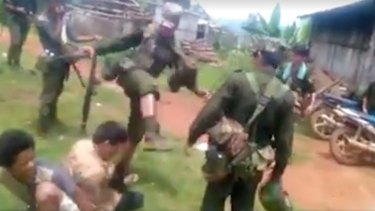 A 17-minute video that appears to show Myanmar soldiers abusing prisoners.
