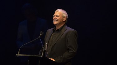 Singer John Farnham is inducted into the Hall of Fame at The Age Music Awards.