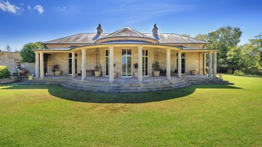 The heritage-listed Georgian homestead sits on the 383 hectare Fernhill Estate, which Rookwood Cemetery trust wants to purchase and redevelop into a cemetery.