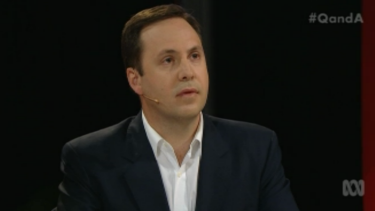 'Mate, the reason they get behind the majors is because of those common values' ...Trade Minister Steve Ciobo explains why Labor and Liberal parties dominate to Greens leader Richard Di Natale.