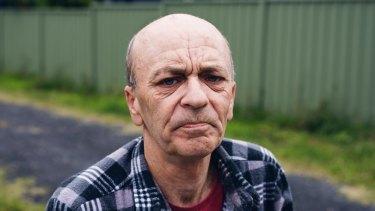 Former motor mechanic Joe Webster of Blackwall on the Central Coast.