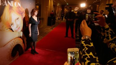 Actress Susan Sarandon arrives at Crown for the Breaking Barriers charity event for the La Dolce Italia festival on Sunday afternoon.