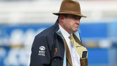 Peter Moody at Caulfield last August.
