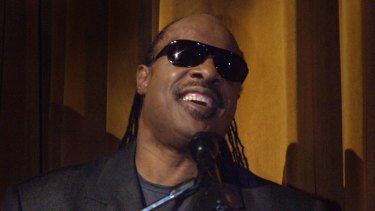 'Choose love over hate' ... Stevie Wonder spoke up passionately for peace and for the Black Lives Matter movement during a concert at the British Summer Time Festival.