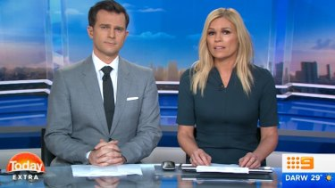 Sonia Kruger and co-host David Campbell on Nine.
