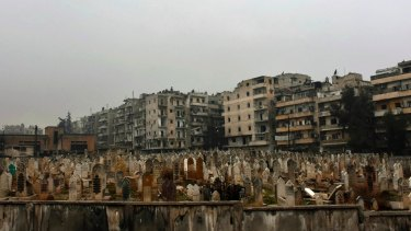 A graveyard in east Aleppo.
