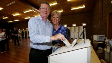 Denis Napthine's efforts were hampered by Tony Abbott's actions.