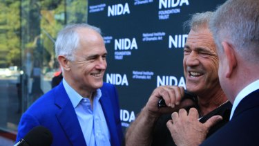 Prime Minister Malcolm Turnbull has questioned whether it was right for Australia to grant a visa to a big American star with a notorious domestic abuse conviction. He was referring to Chris Brown, not Mel Gibson.