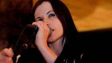 Dolores O'Riordan playing the Park Hyatt Bar in Sydney.