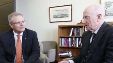Mr Morrison during a meeting on Wednesday with Reserve Bank governor Glenn Stevens.