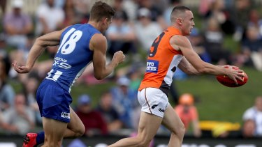 Quiet life: Tom Scully joined GWS from the Demons at the end of 2011.