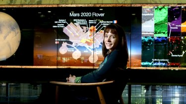 Australian NASA astrobiologist Abigail Allwood, pictured at her alma mater QUT, wants Australia to invest more into space exploration.