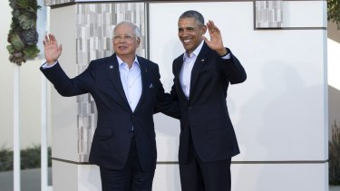 Malaysian Prime Minister Najib Razak with US President Barack Obama at the ASEAN leaders' summit in California earlier this month.