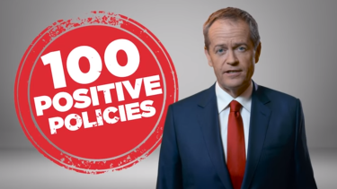 Opposition Leader Bill Shorten appears in a Labor TV ad.
