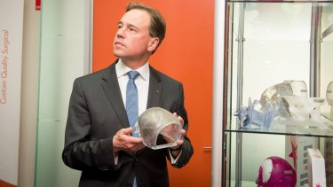 Greg Hunt has increased funding for the health system by $10 billion over four years