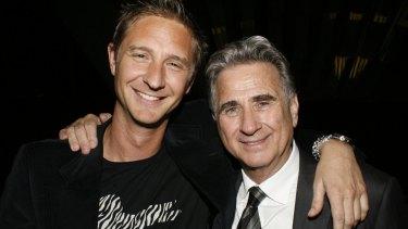 John Hemmes and his son Justin Hemmes in 2004.