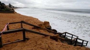 Beach erosion at North Narrabeen in April 2015.