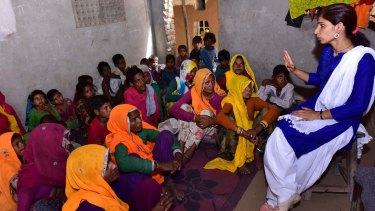 Sharma, now a graduate, teaches at a private school near her home.