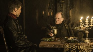 Jaime Lannister bears the bore Walder Frey hours before the 90-year-old lecherer's death