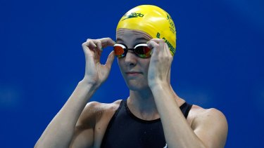 Bronte Campbell before the women's 50m freestyle final.