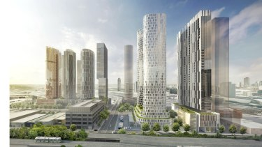 An artists impression of the six towers in Normanby Road.