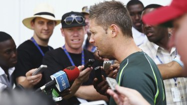 Skipper Michael Clarke played down the incident.