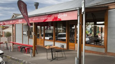 Damian Mantach spent $611,000 to buy the Gusto Cafe in  Queenscliff, which his wife Jodie ran.