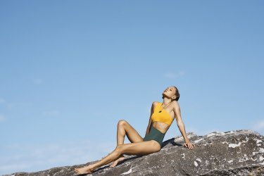 "Sophie Deloudi ""Lia"" one-piece swimsuit, $190, from Greek Style Council."