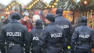 Police patrol have increased at the Christmas market in front of the city hall in Vienna.