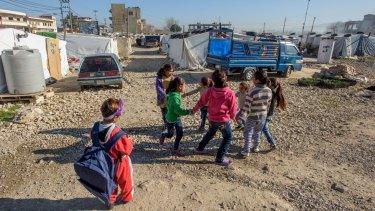 Syrian refugee children in Lebanon.