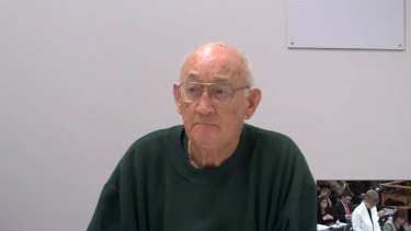 Convicted paedophile priest Gerald Ridsdale gives evidence to the royal commission.